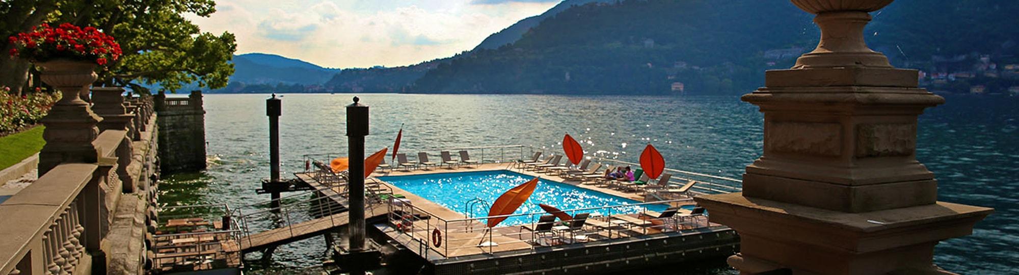 Vue de l'hotel Casta Diva Resort & Spa 5* à Blevio